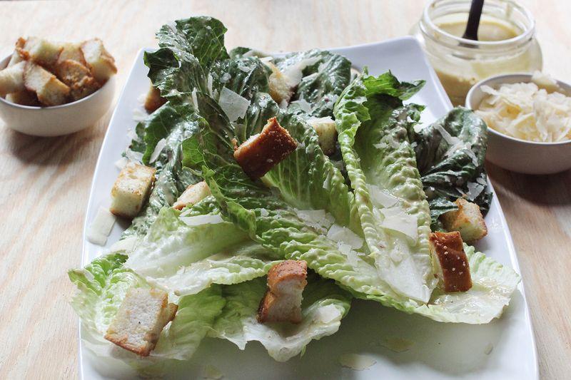 Caesar salad recipe www.abeautifulmess.com