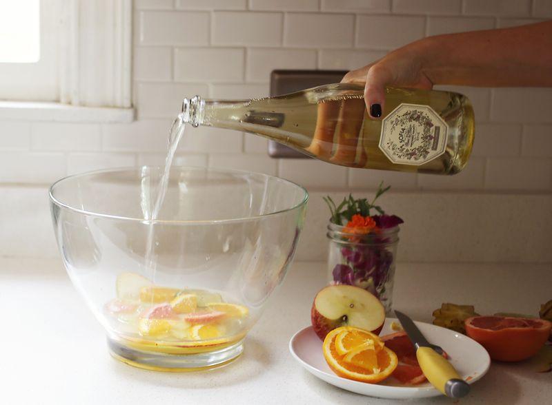 Cocktails with sparkling wine www.abeautifulmess.com