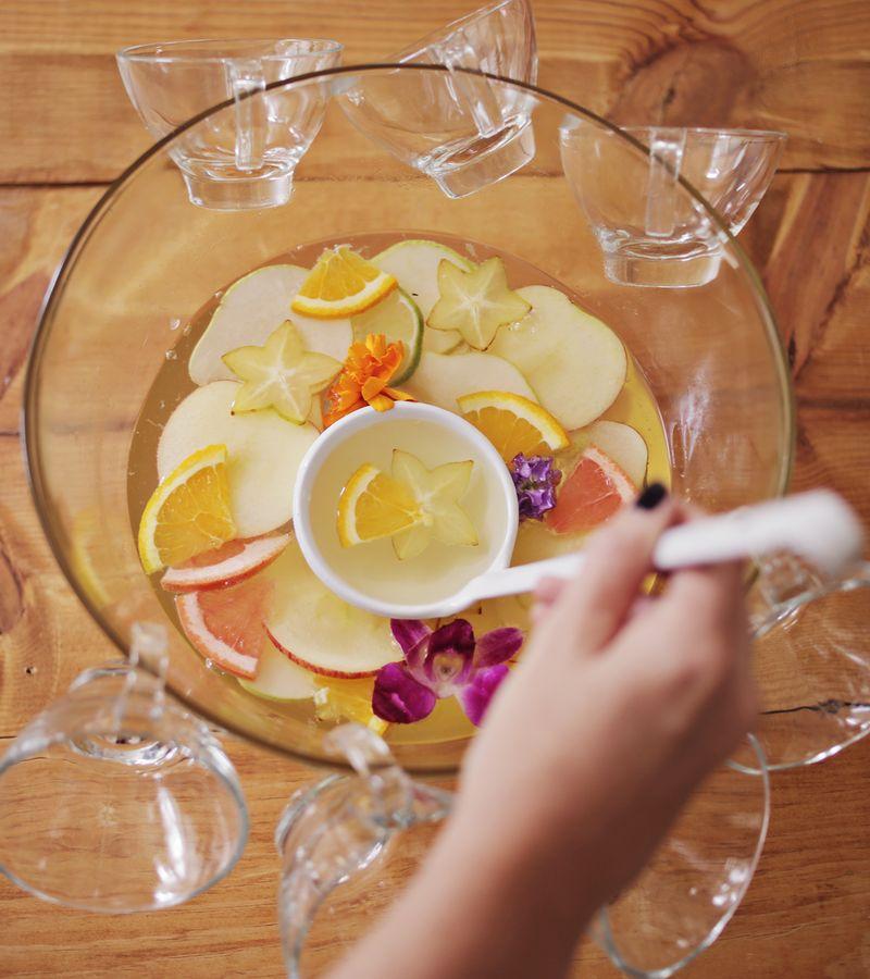Four seasons punch www.abeautifulmess.com