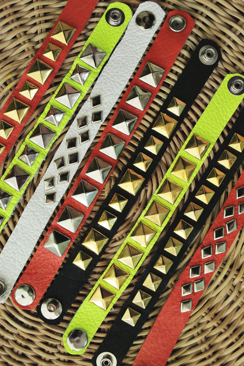 How To Make Leather Stud Bracelets