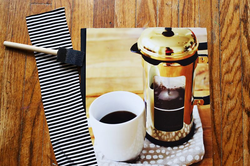 Make a photo covered journal! step 2 www.beautifulmess.com