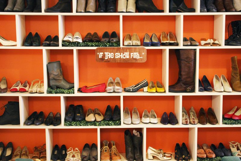 Vintage Shoe Wall