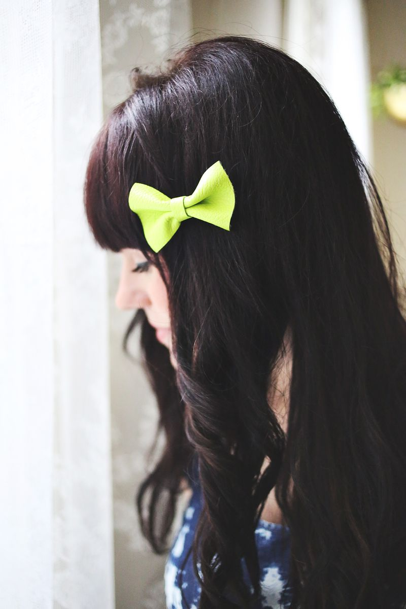 Let's Make Leather Hair Clips! www.abeautifulmess.com