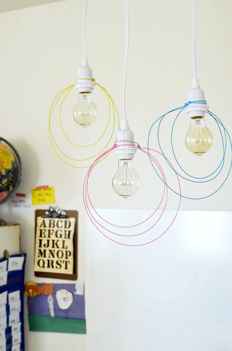 Halo Light Pendant DIY www.abeautifulmess.com