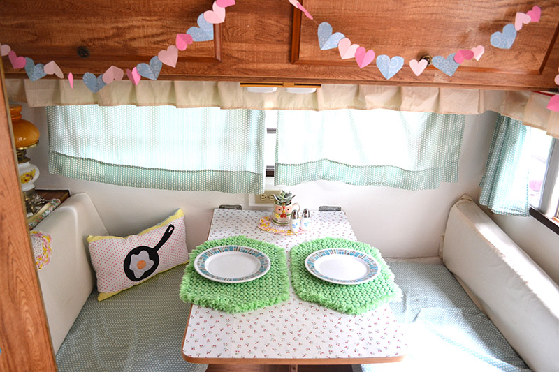 Adorable dining area in a camper