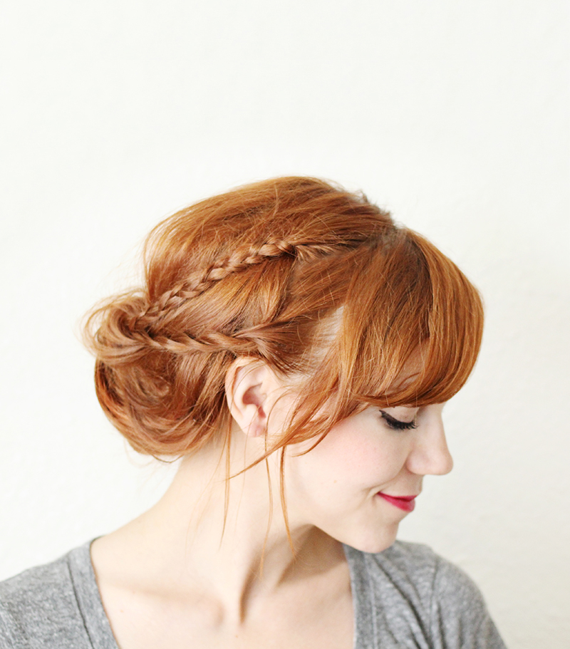 How To Style A Braided Chignon A Beautiful Mess