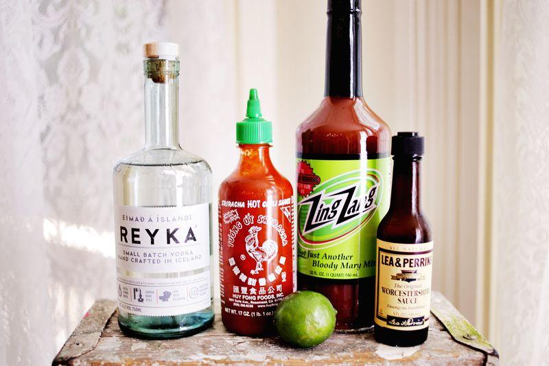 Sriracha Bloody Mary! SO spicy & delicious! www.abeautifulmess.com