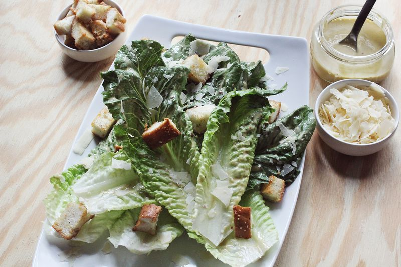 Caesar Dressing Anchovy Croutons A Beautiful Mess