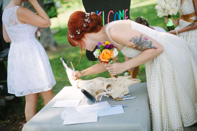 Unique Wedding Guest book idea!