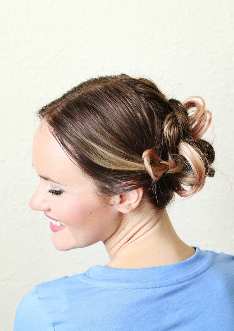 A Simple Pretty Updo A Beautiful Mess