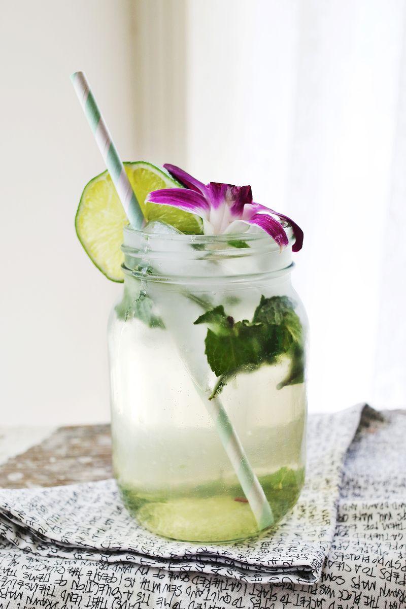 Floral Mojito Recipe www.abeautifulmess.com