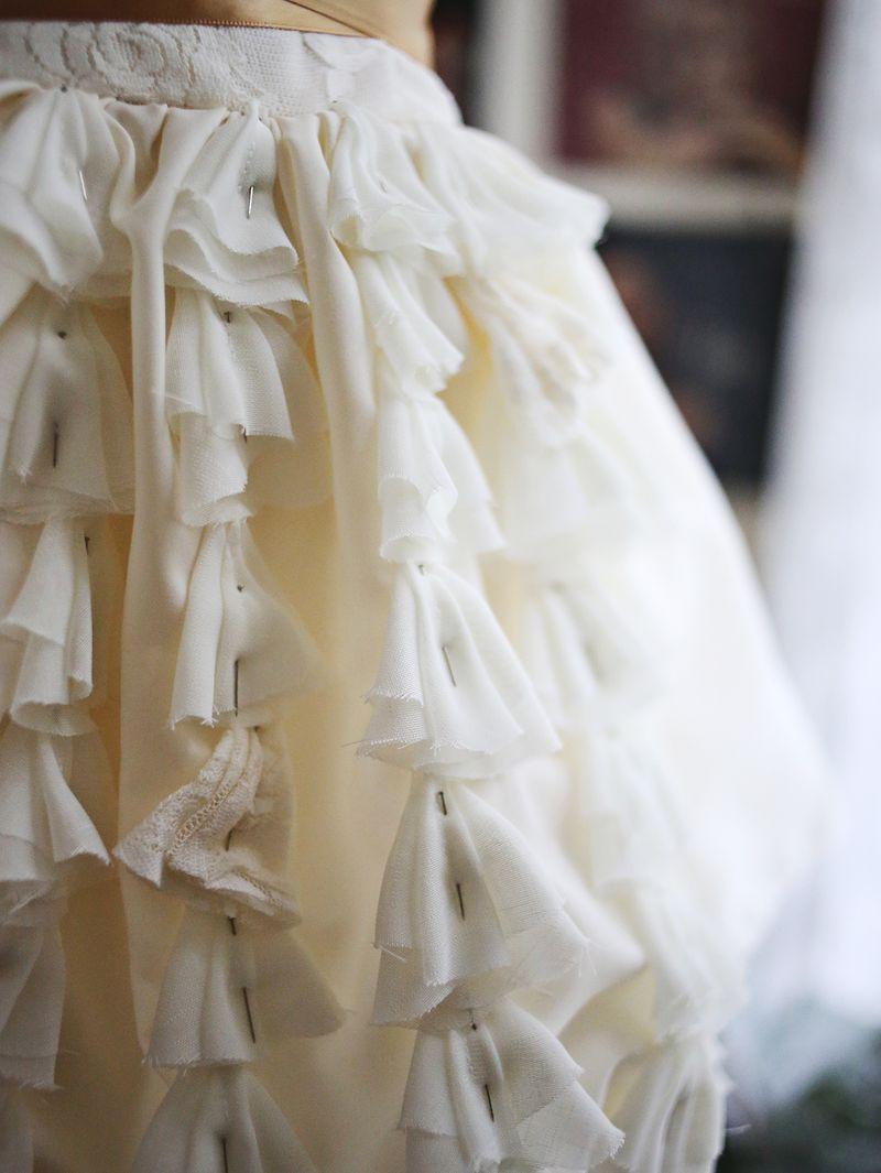 Making Emma's wedding dress