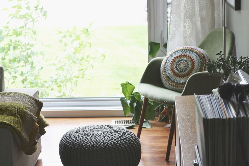 Cozy little corner with vintage pillows