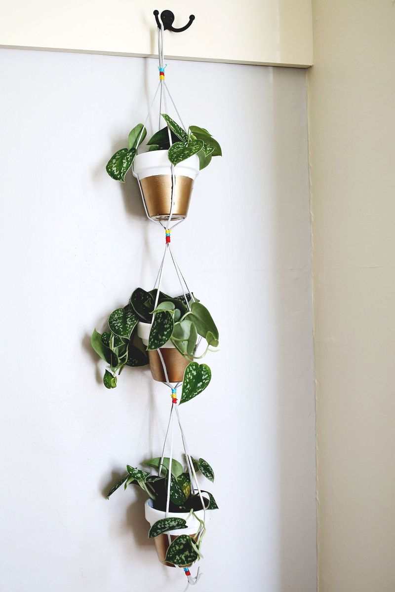 Gold Dipped Hanging Planters Www Abeautifulmess