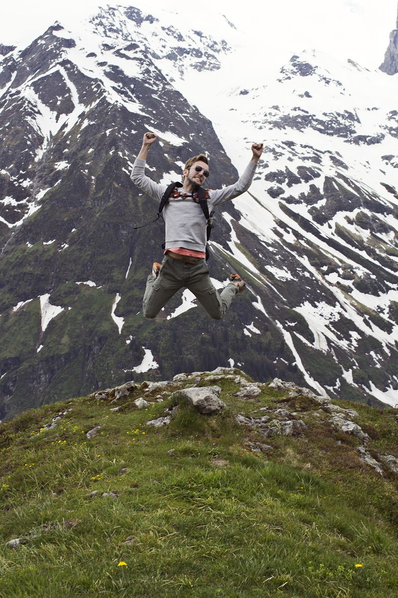 Trey in the swiss alps