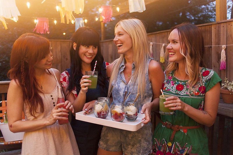 A Colorful Summertime Back Porch Party www.abeautifulmess.com 8