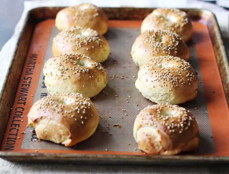 Egg bagels abeautifulmess.com