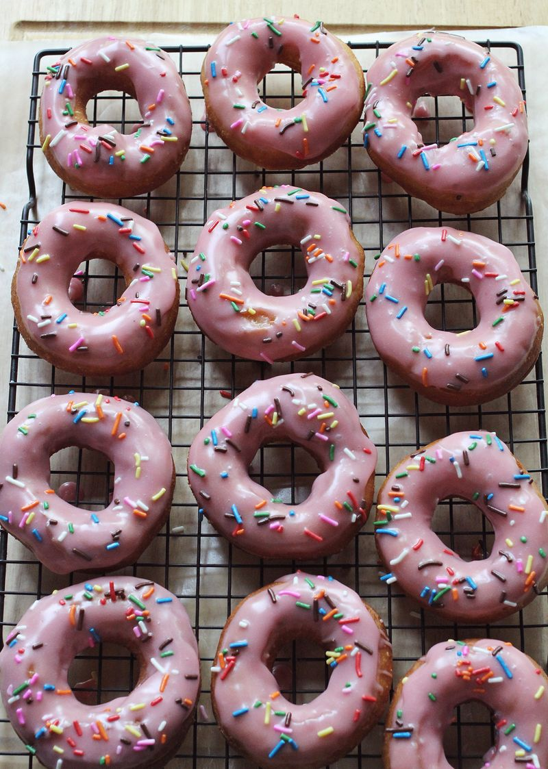 Homemade Homer Simpson donuts abeautifulmess.com