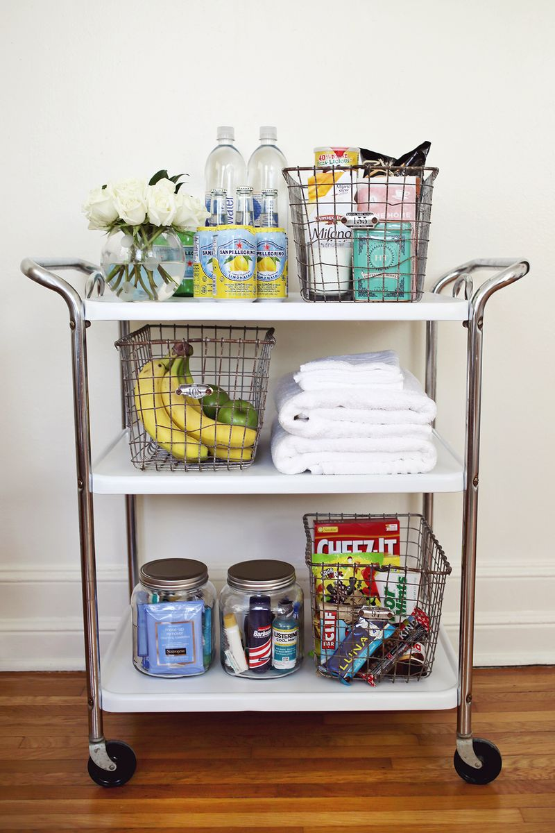 Try This A Guest Room Cart A Beautiful Mess