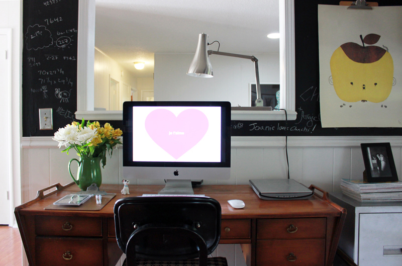 Stacie Bloomfield's darling workspace