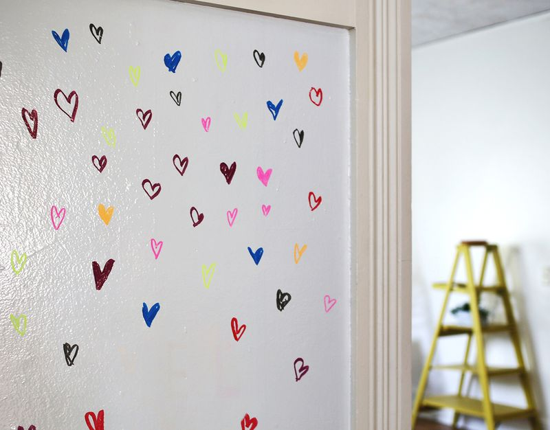Try This  Paint A Wall With Whiteboard Paint Abeautifulmess.com