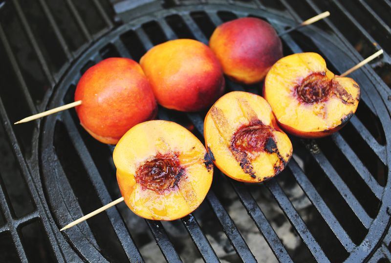 OMG- a grilled peach smoothie?! abeautifulmess.com