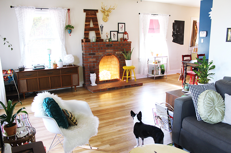 Lovely space-- really into that fireplace