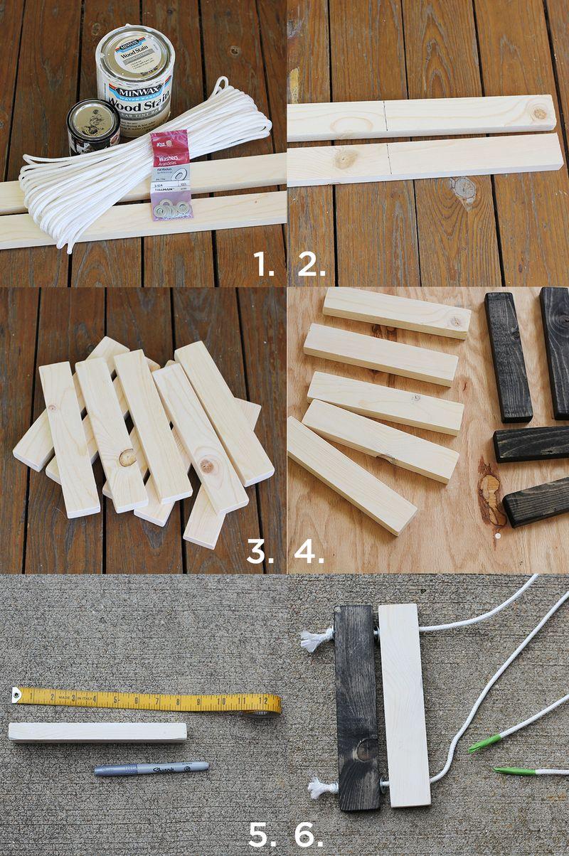 Diy Wooden Trivet Set A Beautiful Mess