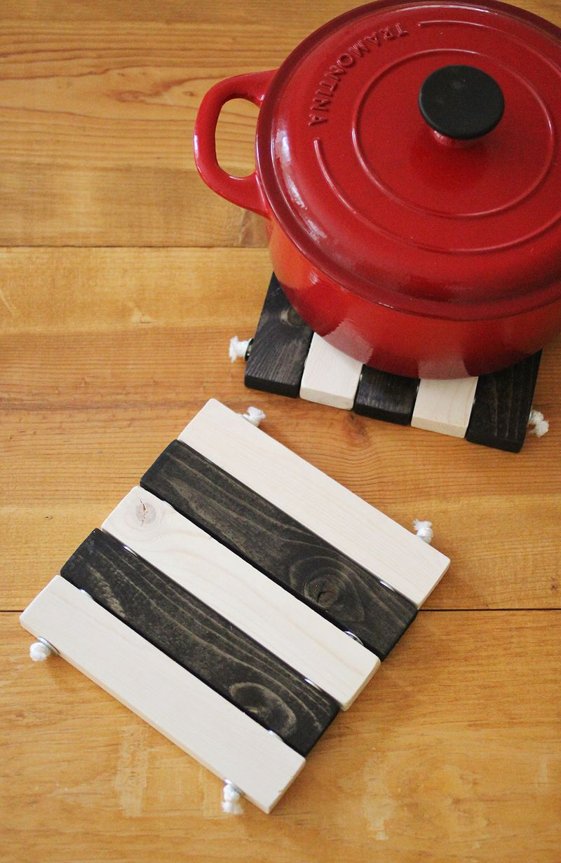 DIY Wooden Trivet Set