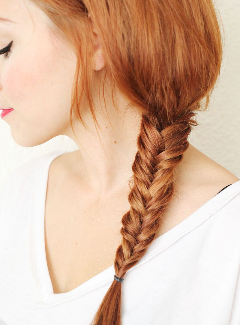 Great video tutorial for fishtail braiding