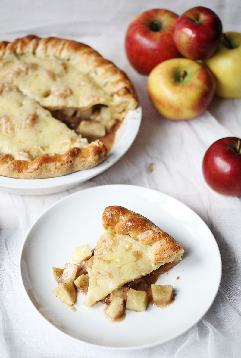 Cheesy Apple Pie (click through for recipe)