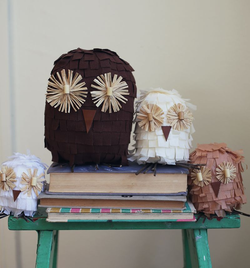 Autumn Owl Decorations
