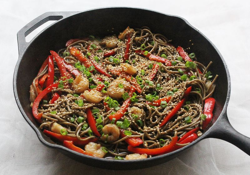 Sweet and spicy soba noodles (click through for recipe)