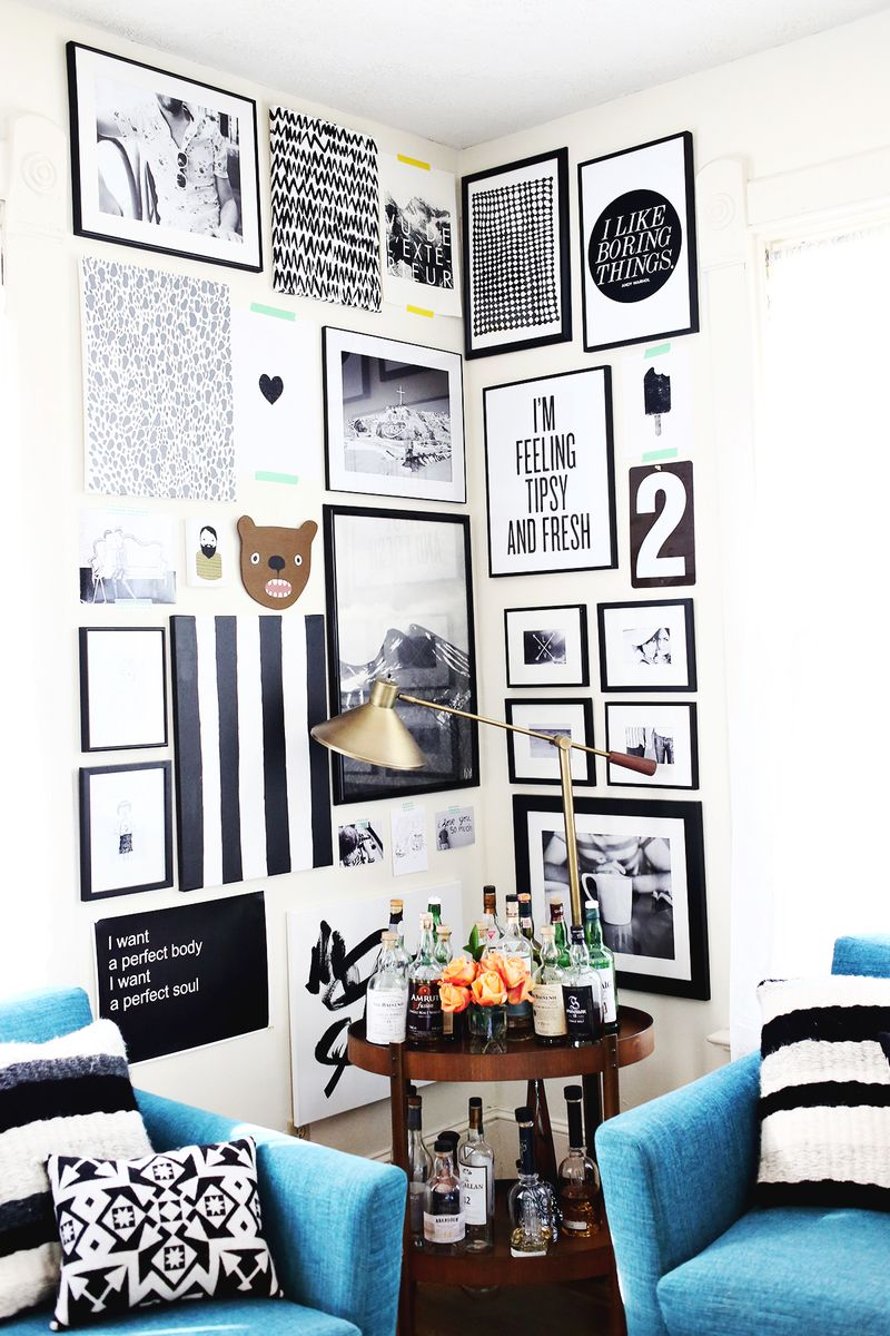 How to style a corner gallery wall (click though for a video tutorial!)