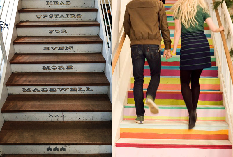 Cute staircases at Madewell stores