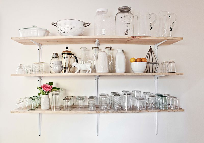 Open shelving! I love this!