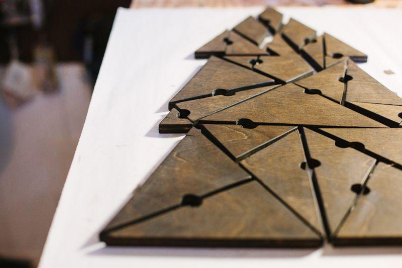 Geometric Christmas Tree Puzzle abeautifulmess.com