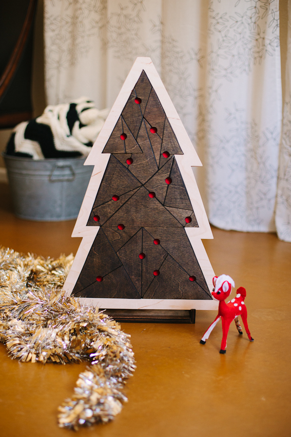 Geometric Christmas Tree Puzzle abeautifulmess.com