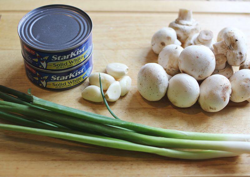 Ingredients for tuna casserole