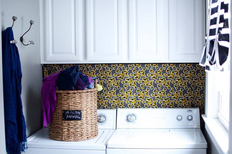I'd love doing laundry if my space looked like this!