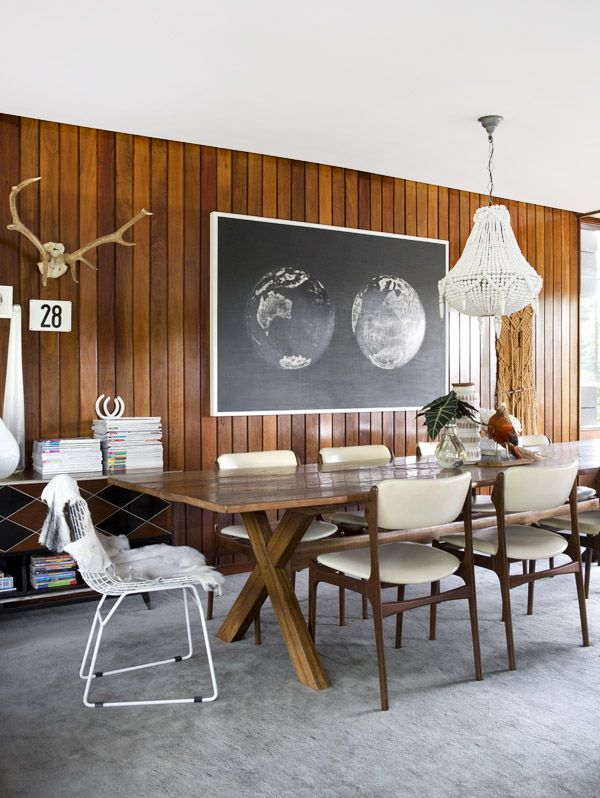 Love this wood wall!