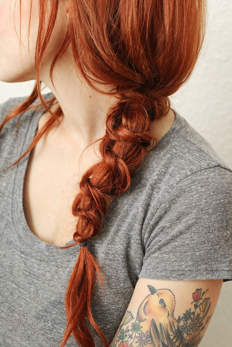 Simple knotted braid tutorial (click through for full instructions)