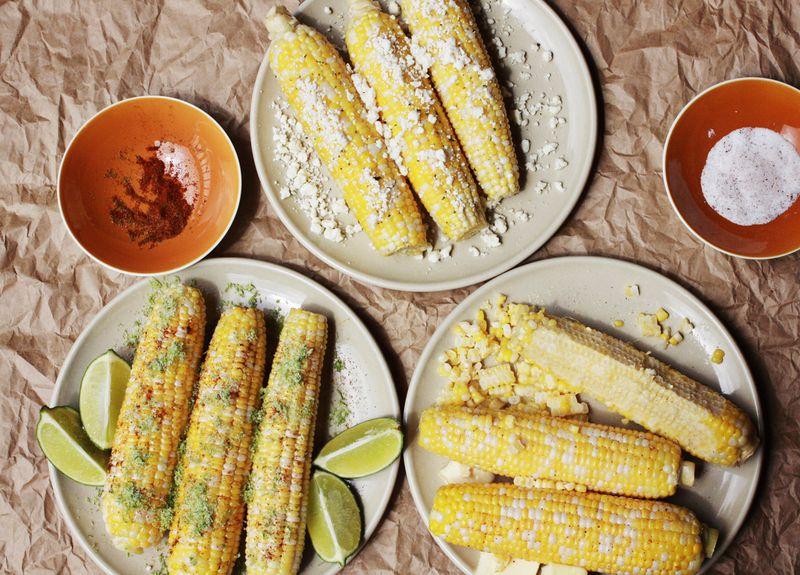 Corn on the Cob 3 Ways abeautifulmess.com