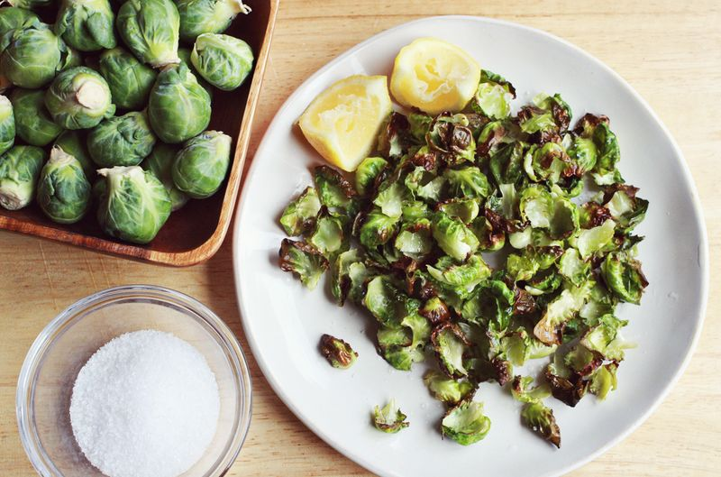 Brussel Sprouts Chips abeautifulmess.com