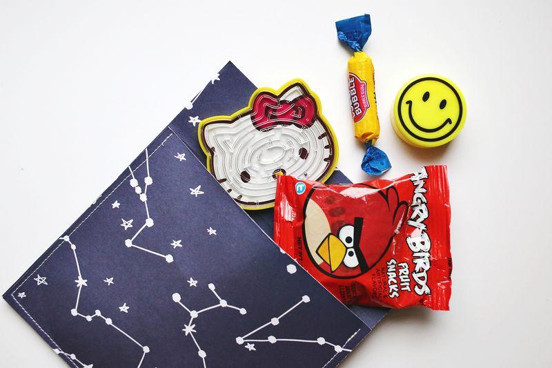 Stuffing advent goodies