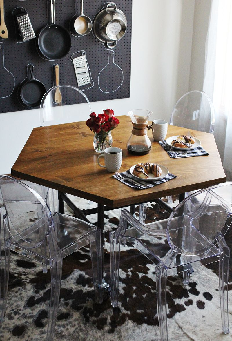 DIY Hexagon Table