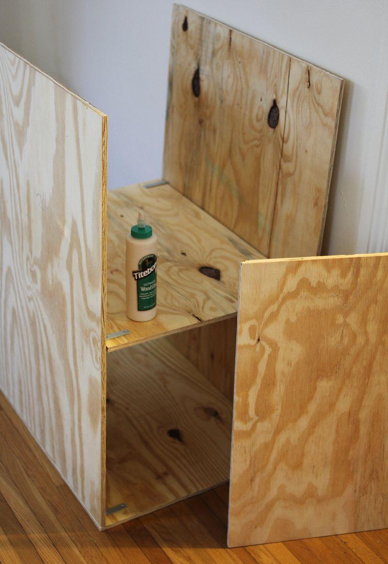 Diy easy plywood shelves