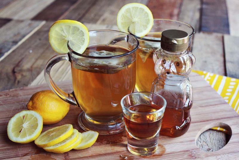 Sweet tea hot toddy