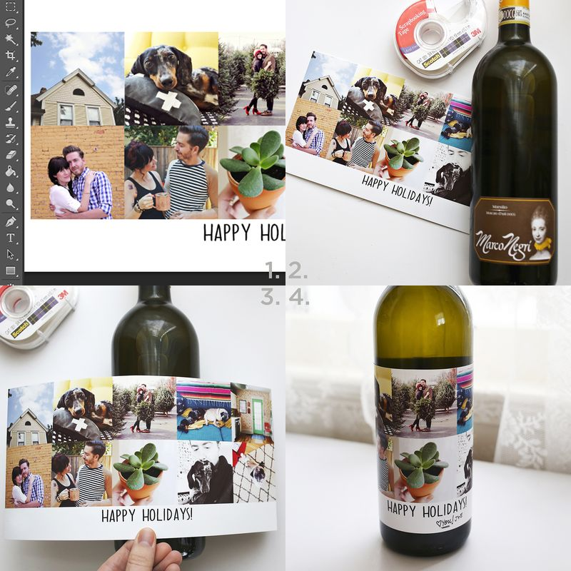Making a custom wine label!