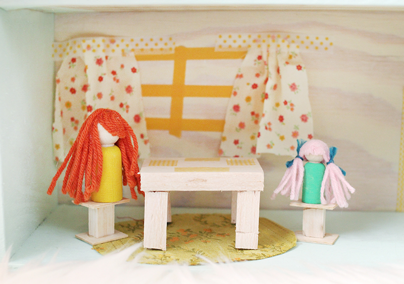 Sweet little DIY dollhouse